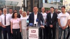 Conferință de presă susținută de candidatul la funcția de primar general al municipiului Chișinău din partea Partidului Platforma Demnitate și Adevăr, Andrei Năstase