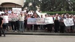 Protestul locuitorilor comunei Jora de Mijloc împotriva contestației depuse de Maia Sandu privind alegerile locale din Comuna Jora de Mijloc