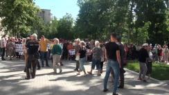 Protest de amploare împotriva contestației depuse de Maia Sandu privind alegerile locale din Comuna Jora de Mijloc