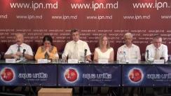 """Conferința de presă cu tema """"Mobilizare totală pentru alegerile Primarului municipiului Chișinău. Apelul cadrelor didactice universitare"""""""