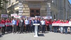 Conferință de presă de totalizarea a campaniei electorale susținută de candidatul PSRM la funcția de primar general al Chișinăului, Ion Ceban