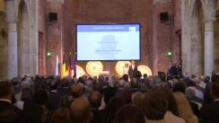 """Ceremonia de decernare a premiului """"Franz Josef Strauss"""" din partea Fundației Hanns Seidel Președintelui României, Klaus Iohannis"""