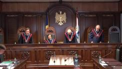 Curtea Constituțională examinează sesizarea Președintelui statului, Igor Dodon, referitoare la modificările aduse Codului audiovizualului