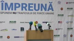 """Briefing de presă de prezentare a informației cu privire la Programul Acțiunii """"#Împreună spunem #NU traficului de ființe umane!"""""""