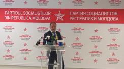 Conferința de presă susținută de șeful fracțiunii PSRM în Consiliul Municipal Chișinău, Ion Ceban