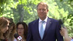 Declarația de presă susținută de Președintele României, Klaus Iohannis