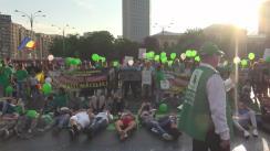 Manifestație publică organizată de Partidul Ecologist Român cu ocazia Zilei Mondiale a Mediului