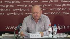 """Conferință de presă susținută de Fiodor Ghelici, președintele Asociației obștești """"Moldova mea"""", cu tema """"Corupția și criminalitatea în poliție înflorește! Polițistul corupt a sustras de la voluntar banii destinați unei bătrâne bolnave și bătrâne"""""""