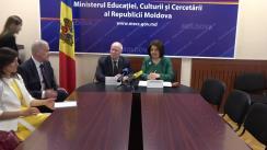 Briefing de presă privind progresul implementării planului de acțiuni al Republicii Moldova în domeniul educației și comemorării Holocaustului