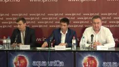 """Conferința de presă susținută de Primarul comunei Băcioi, Vitalie Șalaru, cu tema """"Cetățenii comunei Băcioi, pedepsiți pentru votul lor liber exprimat"""""""