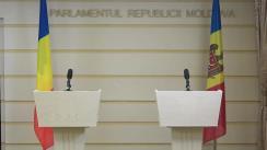 Briefing susținut de Copreședinții Comisiei Comune pentru Integrare Europeană dintre Parlamentul Republicii Moldova și Parlamentul României, George Mocanu și Bogdan-Ionel Rodeanu