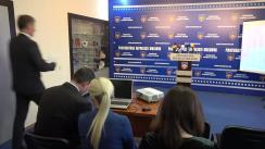 Conferință de presă organizată de Procurorul General, Eduard Harunjen, Directorul Centrului Național Anticorupție, Bogdan Zumbreanu, Șefa Agenției pentru Recuperarea Bunurilor Infracționale, Otilia Nicolai, și Adjunctul Procurorului-șef al Procuraturii Anticorupție, Adriana Bețișor