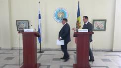 Conferință de presă susținută de Ministrul Afacerilor Externe și Integrării Europene al Republicii Moldova, Tudor Ulianovschi, și Ministrul Afacerilor Externe al Finlandei, Teamo Soini