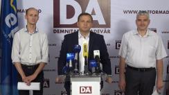 Conferință de presă susținută de Partidul Platforma Demnitate și Adevăr