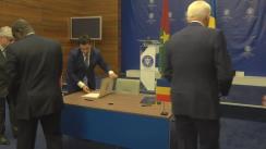 Declarații de presă susținute de Ministrul Afacerilor Externe al României, Teodor Meleșcanu, și Ministrul Afacerilor Externe al Burkina Faso, Alpha Barry