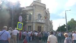 """Protestul """"Până aici! Ne-am săturat!"""" față de invalidarea alegerilor locale din municipiul Chișinău"""