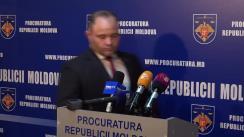 Briefing de presă susținut de adjunctul Procurorului General, Igor Popa, și șeful Inspectoratului General al Poliției, Alexandru Pânzari