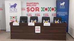 """Briefing de presă cu tema """"Parteneriatul de colaborare dintre Partidul Politic """"ȘOR"""" și Alianța Conservatorilor și Reformiștilor Europeni"""""""