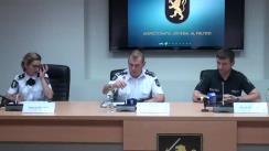 Conferință de presă organizată de Inspectoratul General al Poliției cu privire la măsurile de asigurare a ordinii publice și securității circulației rutiere în timpul desfășurării protestului care va avea loc duminică, în mun. Chișinău