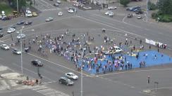 """Protestul """"Cod Roșu de OUG"""" în fața Palatului Victoriei"""