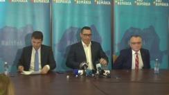 Conferință de presă susținută de liderii PRO România Victor Ponta, Daniel Constantin și Sorin Cîmpeanu