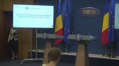 Declarații de presă susținute de ministrul Afacerilor Interne, Carmen Dan, și de ministrul Fondurilor Europene, Rovana Plumb