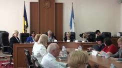 """Ședința Curții de Conturi de examinare a Raportului auditului situațiilor financiare ale Proiectului """"Consolidarea eficacității rețelei de asistență socială"""" pentru anul 2017"""