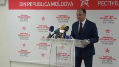 Conferință de presă susținută de liderul fracțiunii PSRM în Consiliul Municipal Chișinău, Ion Ceban