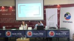 """Conferința de presă organizată de Centrul pentru Jurnalism Independent cu tema """"Elemente de propagandă, manipulare informațională și încălcare a normelor deontologiei jurnalistice în spațiul mediatic autohton"""" (1 aprilie 2018 – 28 iunie 2018)"""