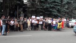 Protest organizat de Comitetul de Rezistență Națională față de nevalidarea alegerilor din municipiul Chișinău