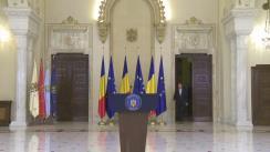 Declarație de presă susținută de Președintele României, Klaus Iohannis, după ce Camera Deputaților a votat modificările propuse pentru Codul Penal