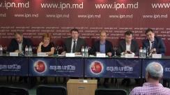 """Conferința de presă cu tema """"Alinierea Republicii Moldova la standardele de integritate internaționale – Global Magnitsky Act"""""""