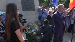 """Membrii Partidului Liberal depun flori la Monumentul """"Trenul Durerii"""" cu ocazia împlinirii a 69 ani de la cel mai mare val de deportări al regimului comunist"""