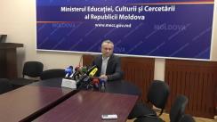 Briefing de presă directorul Agenției Naționale pentru Curriculum și Evaluare, Anatol Topală, referitor la rezultatele finale ale sesiunii de bază a examenului de bacalaureat 2018