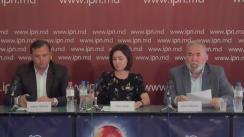 """Conferința de presă susținută de Maia Sandu, președintele PAS, Andrei Năstase, președintele PPDA și Viorel Cibotaru, președintele PLDM cu tema """"Cu privire la rezultatele vizitei la Strasbourg"""""""