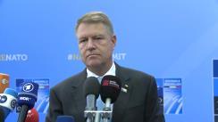 Declarație de presă susținută de Președintele României, Klaus Iohannis, la începutul Summitului NATO