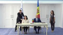 Semnarea Acordului de împrumut dintre Republica Moldova și Banca de Dezvoltare a Consiliului Europei. Briefing de presă susținut de Prim-ministrul Republicii Moldova, Pavel Filip, și viceguvernatorul Băncii de Dezvoltare a Consiliului Europei, Rosa María Sánchez-Yebra Alonso