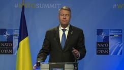 Declarație de presă susținută de Președintele României, Klaus Iohannis, la finalul Summit-ului NATO de la Bruxelles