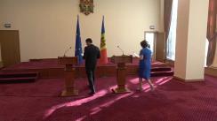 Briefing de presă susținut de ministrul Educației, Culturii și Cercetării, Monica Babuc și ministrul Economiei și Infrastructurii, Chiril Gaburici, referitor la selectarea partenerului privat pentru Arena Chișinău