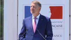Alocuțiunea Președintelui României, domnul Klaus Iohannis, susținută cu prilejul participării la recepția oferită cu ocazia Zilei Naționale a Republicii Franceze