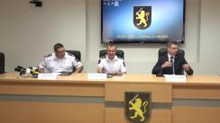 Conferință de presă organizată de Inspectoratul General al Poliției cu privire la un grup infracțional specializat în contrabandă cu tutun, anihilat de către poliție