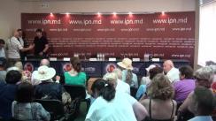 """Conferință de presă organizată de Comitetul Mișcării de Rezistență Națională ACUM cu tema """"Cu privire la următoarele acțiuni de protest"""""""