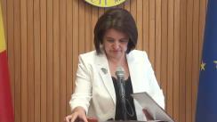 Declarațiile Monicăi Babuc după ședința Guvernului Republicii Moldova din 18 iulie 2018