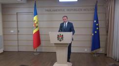Declarație de presă susținută de Președintele Parlamentului Republicii Moldova, Andrian Candu, după ședința platformei de consultare și control parlamentar pentru realizarea politicii de reintegrare a Republicii Moldova