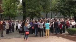Acțiune de protest organizată de Comitetul Mișcării de Rezistență Națională ACUM în fața Parlamentului Republicii Moldova