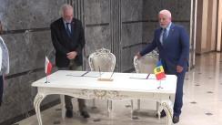 Ceremonia de semnare a Declarației comune a Adunării Parlamentare a Republicii Moldova și Republicii Polone