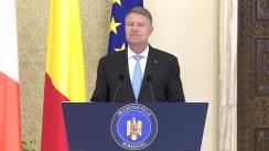Declarație de presă susținută de Președintele României, Klaus Iohannis, și Prim-ministrul Irlandei, Leo Varadkar