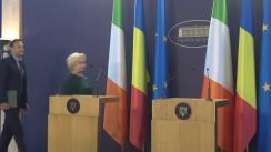 Declarație de presă susținută de Prim-ministrul României, Viorica Dăncilă, și Prim-ministrul Irlandei, Leo Varadkar