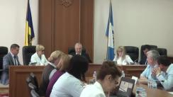 """Ședința Curții de Conturi de examinare a Raportului auditului privind autenticitatea situațiilor financiare aferente implementării Proiectului """"Reforma învățământului în Moldova"""" pe exercițiul bugetar 2017"""