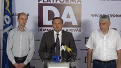 Conferință de presă susținută de primarul ales al municipiului Chișinău, Andrei Năstase, cu privire la sesizarea instituțiilor internaționale